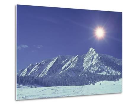 The Flatirons Near Boulder, CO, Winter-Chris Rogers-Metal Print