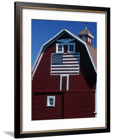 Barn with American Flag, Palouse County, WA-Christopher Jacobson-Framed Art Print