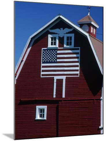 Barn with American Flag, Palouse County, WA-Christopher Jacobson-Mounted Photographic Print