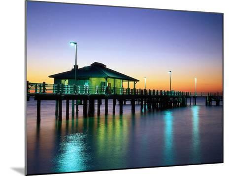 Fishing Pier at Sunrise, Fort de Soto Park, FL-David Davis-Mounted Photographic Print