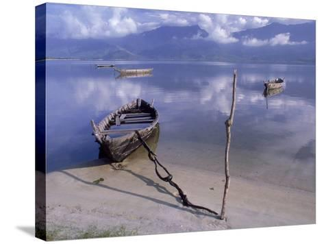 Rowboats, Danang, Vietnam-Fred Scribner-Stretched Canvas Print