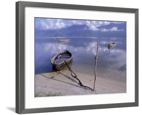 Rowboats, Danang, Vietnam-Fred Scribner-Framed Art Print