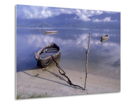 Rowboats, Danang, Vietnam-Fred Scribner-Metal Print
