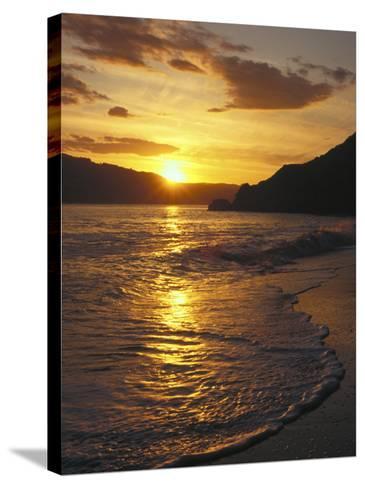 Sunset Over Beach, Angel Island, CA-Steven Baratz-Stretched Canvas Print