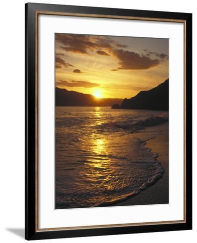 Sunset Over Beach, Angel Island, CA-Steven Baratz-Framed Art Print