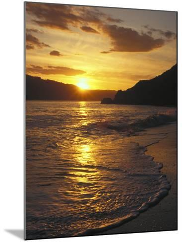 Sunset Over Beach, Angel Island, CA-Steven Baratz-Mounted Photographic Print