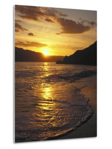Sunset Over Beach, Angel Island, CA-Steven Baratz-Metal Print