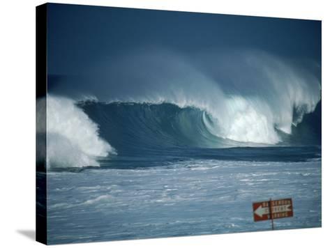 Crashing Waves, Oahu, Hawaii-Bill Romerhaus-Stretched Canvas Print