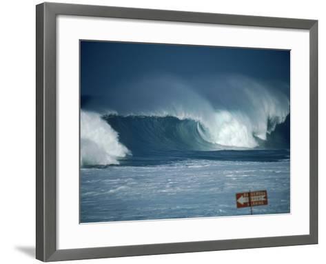 Crashing Waves, Oahu, Hawaii-Bill Romerhaus-Framed Art Print