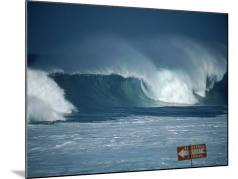 Crashing Waves, Oahu, Hawaii-Bill Romerhaus-Mounted Photographic Print