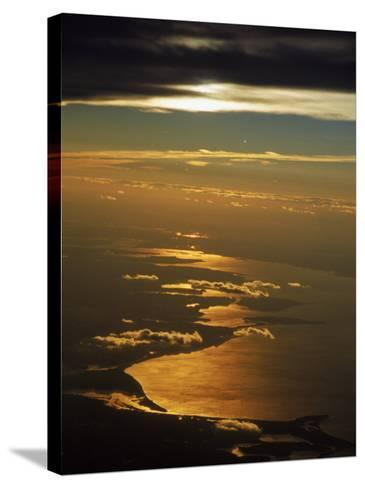 Aerial View, Long Island Sound, NY-Bruce Clarke-Stretched Canvas Print