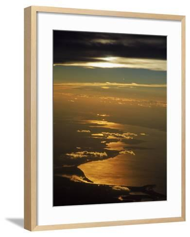 Aerial View, Long Island Sound, NY-Bruce Clarke-Framed Art Print