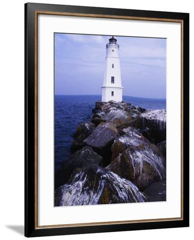 Ashland Breakwater Lighthouse, WI-Ken Wardius-Framed Art Print