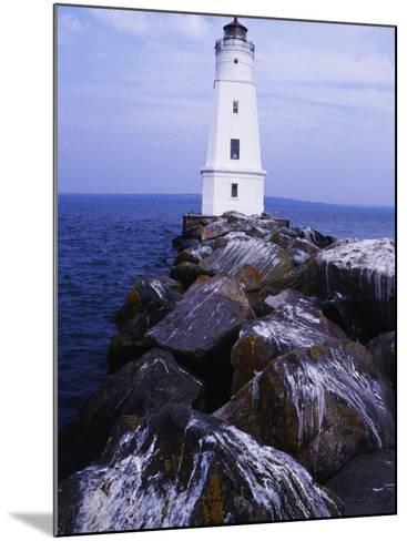 Ashland Breakwater Lighthouse, WI-Ken Wardius-Mounted Photographic Print