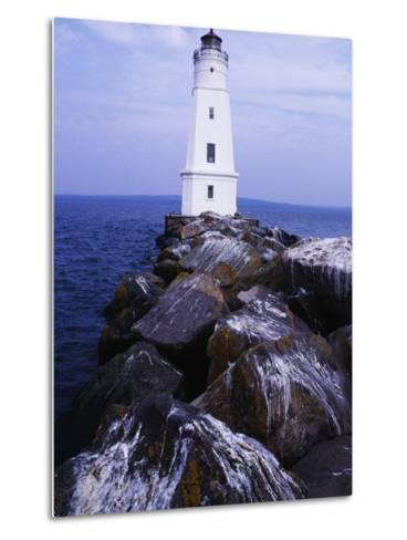 Ashland Breakwater Lighthouse, WI-Ken Wardius-Metal Print