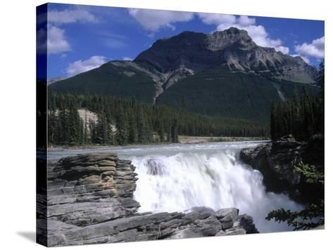 Jasper Area, Waterfall, Canada-Frank Perkins-Stretched Canvas Print