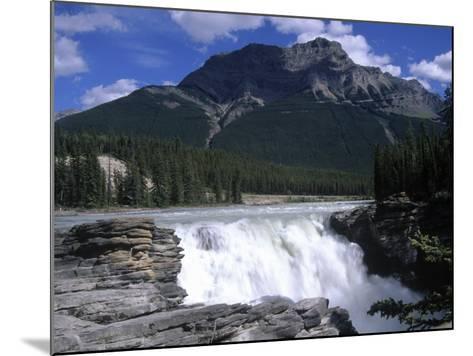 Jasper Area, Waterfall, Canada-Frank Perkins-Mounted Photographic Print