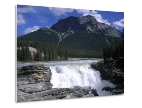 Jasper Area, Waterfall, Canada-Frank Perkins-Metal Print