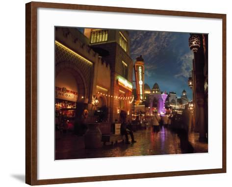 Interior of Aladdin Casino Hotel, Las Vegas-Mark Gibson-Framed Art Print