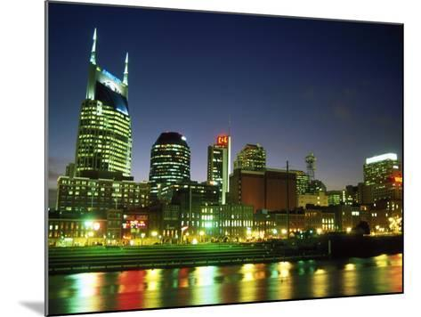 Skyline with Reflection in Cumberland River-Barry Winiker-Mounted Photographic Print