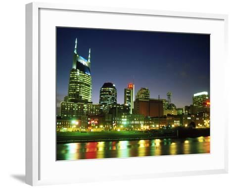 Skyline with Reflection in Cumberland River-Barry Winiker-Framed Art Print
