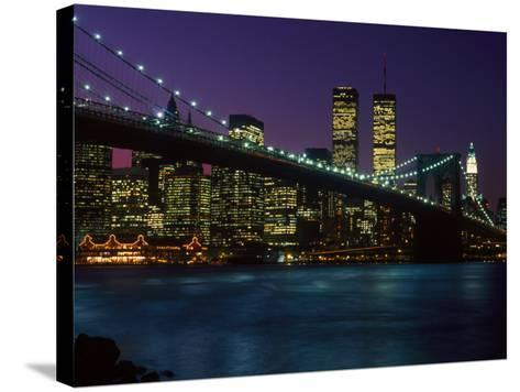 Brooklyn Bridge and Lower Manhattan, NY-Rudi Von Briel-Stretched Canvas Print
