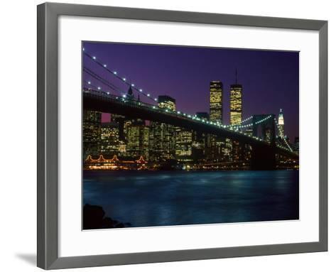 Brooklyn Bridge and Lower Manhattan, NY-Rudi Von Briel-Framed Art Print