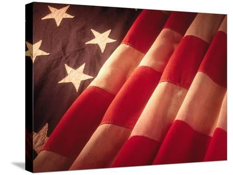 American Flag-Ellen Kamp-Stretched Canvas Print