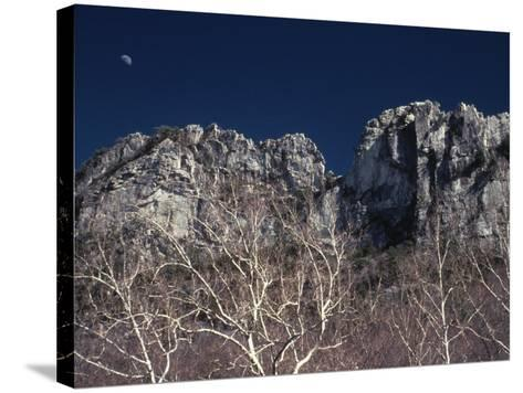 Seneca Rocks State Park, WV-Jeff Greenberg-Stretched Canvas Print