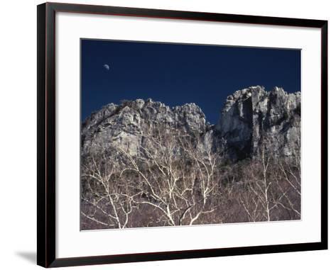 Seneca Rocks State Park, WV-Jeff Greenberg-Framed Art Print