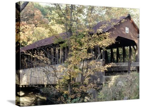 Covered Bridge in Windsor, Vermont-Manrico Mirabelli-Stretched Canvas Print