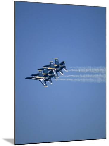 USN Blue Angels Flying in Formation-John Luke-Mounted Photographic Print