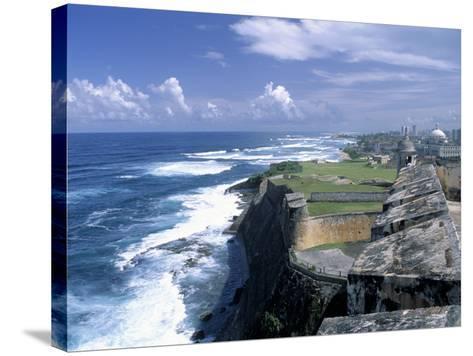 Castillo de San Cristobal Beach, Puerto Rico-Jim Schwabel-Stretched Canvas Print