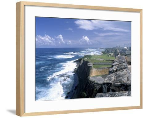Castillo de San Cristobal Beach, Puerto Rico-Jim Schwabel-Framed Art Print