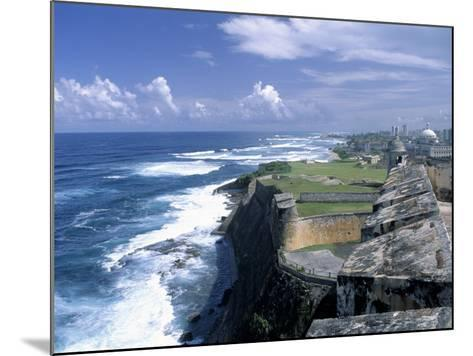 Castillo de San Cristobal Beach, Puerto Rico-Jim Schwabel-Mounted Photographic Print