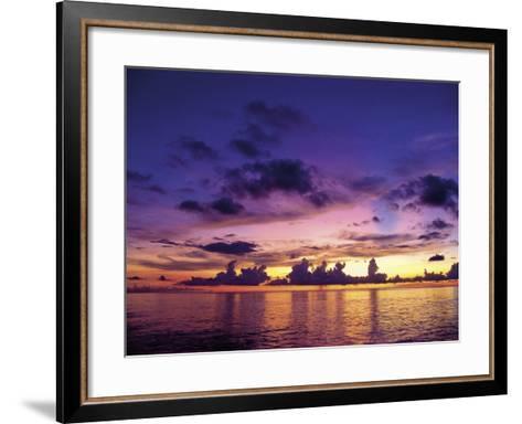 Sunset in the Cayman Islands-Anne Flinn Powell-Framed Art Print