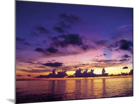 Sunset in the Cayman Islands-Anne Flinn Powell-Mounted Photographic Print