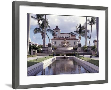 Palm Beach Town Hall, Palm Beach, FL-Robin Hill-Framed Art Print
