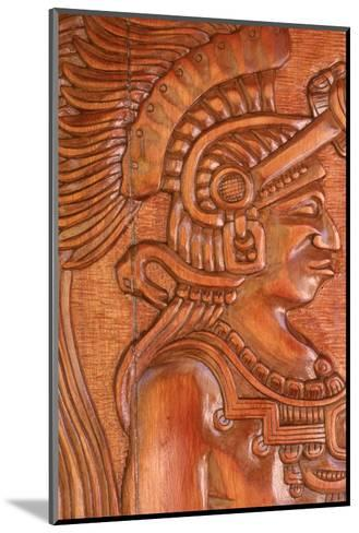 Mayan Wood Carving, Gales Point, Belize-Robert Houser-Mounted Photographic Print