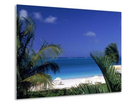 Tropical Beach, Turks and Caicos Islands-Timothy O'Keefe-Metal Print
