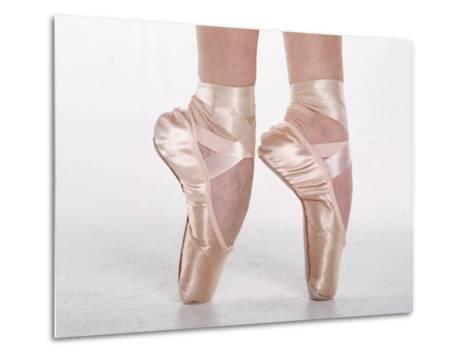 Feet of Dancing Ballerina-Bill Keefrey-Metal Print