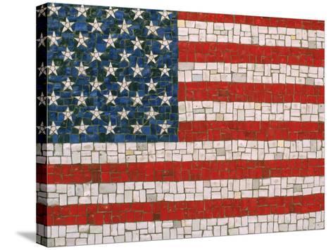 American Flag in Mosaic-Rudi Von Briel-Stretched Canvas Print