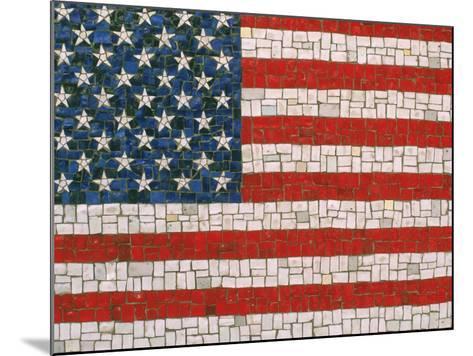 American Flag in Mosaic-Rudi Von Briel-Mounted Photographic Print