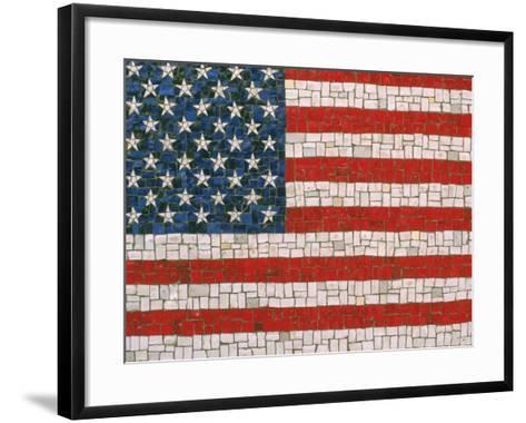 American Flag in Mosaic-Rudi Von Briel-Framed Art Print