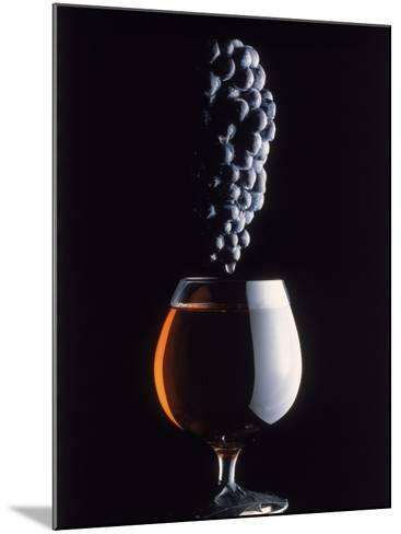 Bunch of Grapes Over a Glass of Wine-Howard Sokol-Mounted Photographic Print