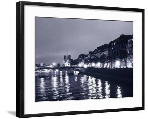 View of Ile St. Louis, Seine River, France-Walter Bibikow-Framed Art Print