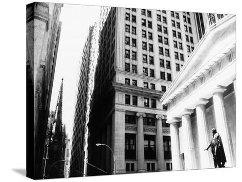 Wall Street, New York, NY-John Glembin-Stretched Canvas Print