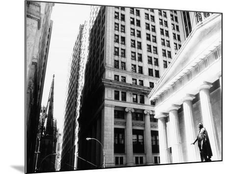 Wall Street, New York, NY-John Glembin-Mounted Photographic Print
