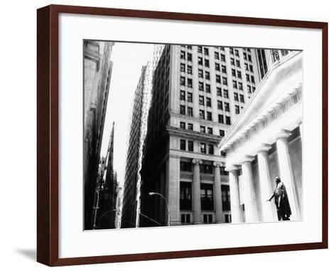 Wall Street, New York, NY-John Glembin-Framed Art Print