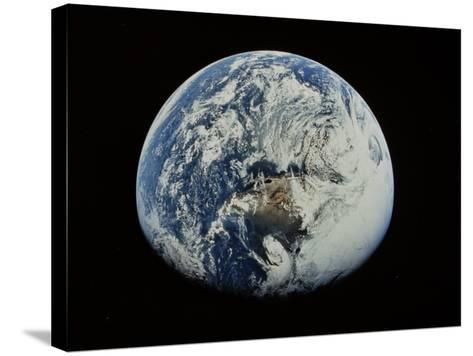Earth-David Bases-Stretched Canvas Print